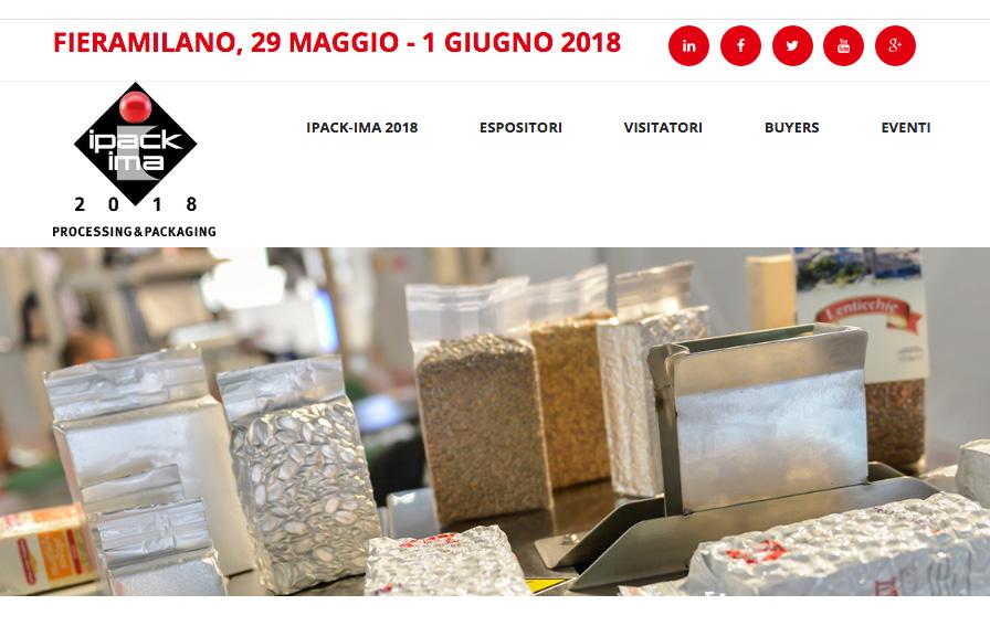 IPACKIMA 2018 – Fiera Milano 29 maggio / 1 giugno